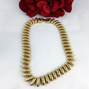 Vintage Erwin Pearl San Marco Gold Tone Necklace